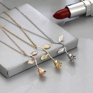 Jewelry - Beauty and the Beast enchanted rose necklace